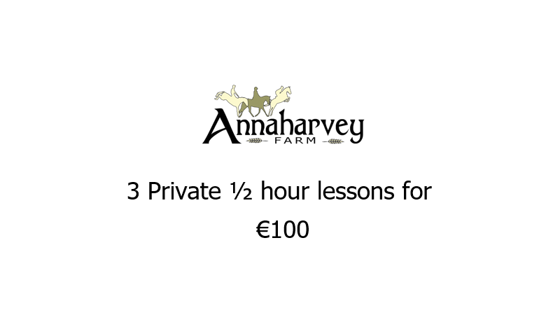 3 Private Half hour Lesson Voucher